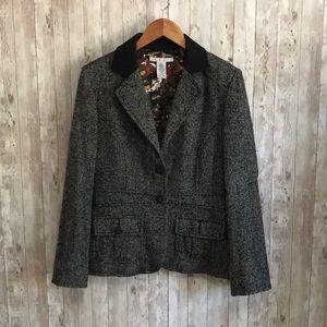 CAbi fox run equestrian wool blazer